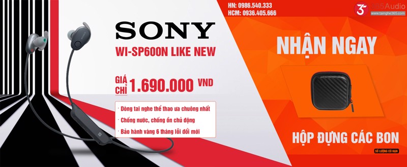 Sony WI-SP600N LikeNEW | Tai nghe thể thao chống ồn
