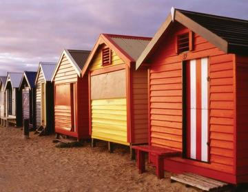 Brighton Bathing Boxes, Melbourne